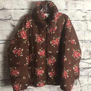 Sonoma Brown and Floral Jacket. Size XXL